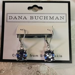 Brand New Swarovski Crystal Purple Earrings